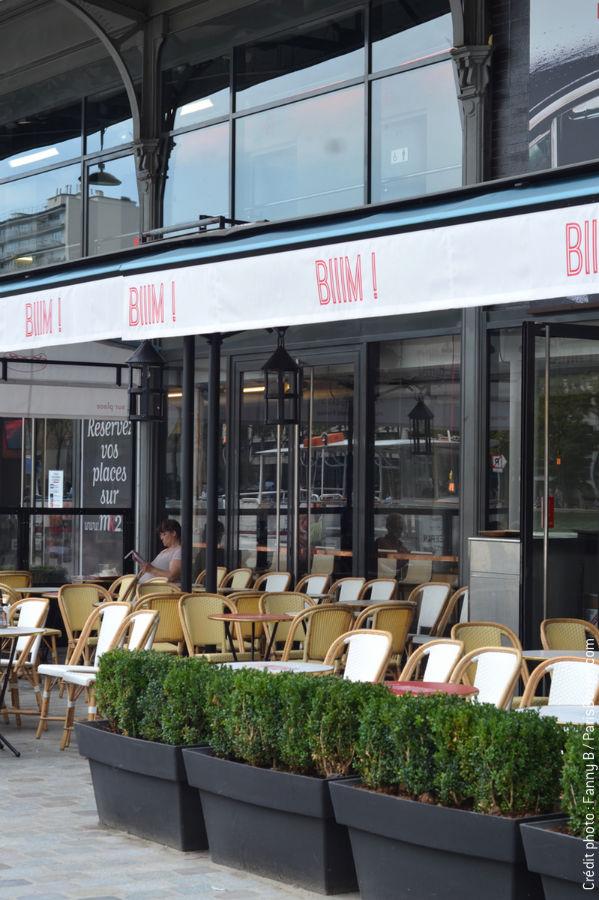 Restaurant biiim burgers et hot dogs au canal de l 39 ourcq for Exterieur quai le bouillon de l est