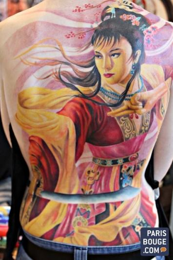 Mondial du tatouage 2014 retrouvez les derni res tendances du tatouage en photos - Bon salon de tatouage paris ...