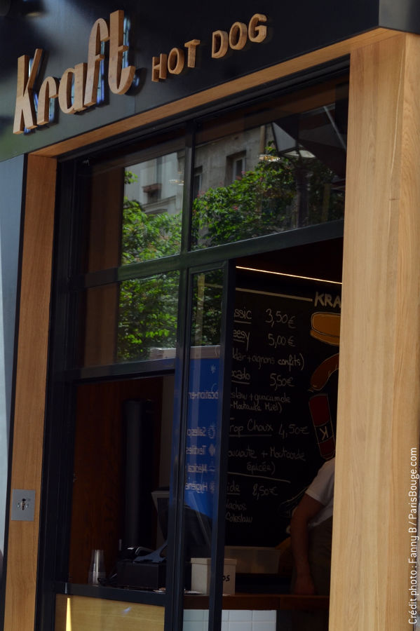 Kraft Hot-dog Paris Marais Street food