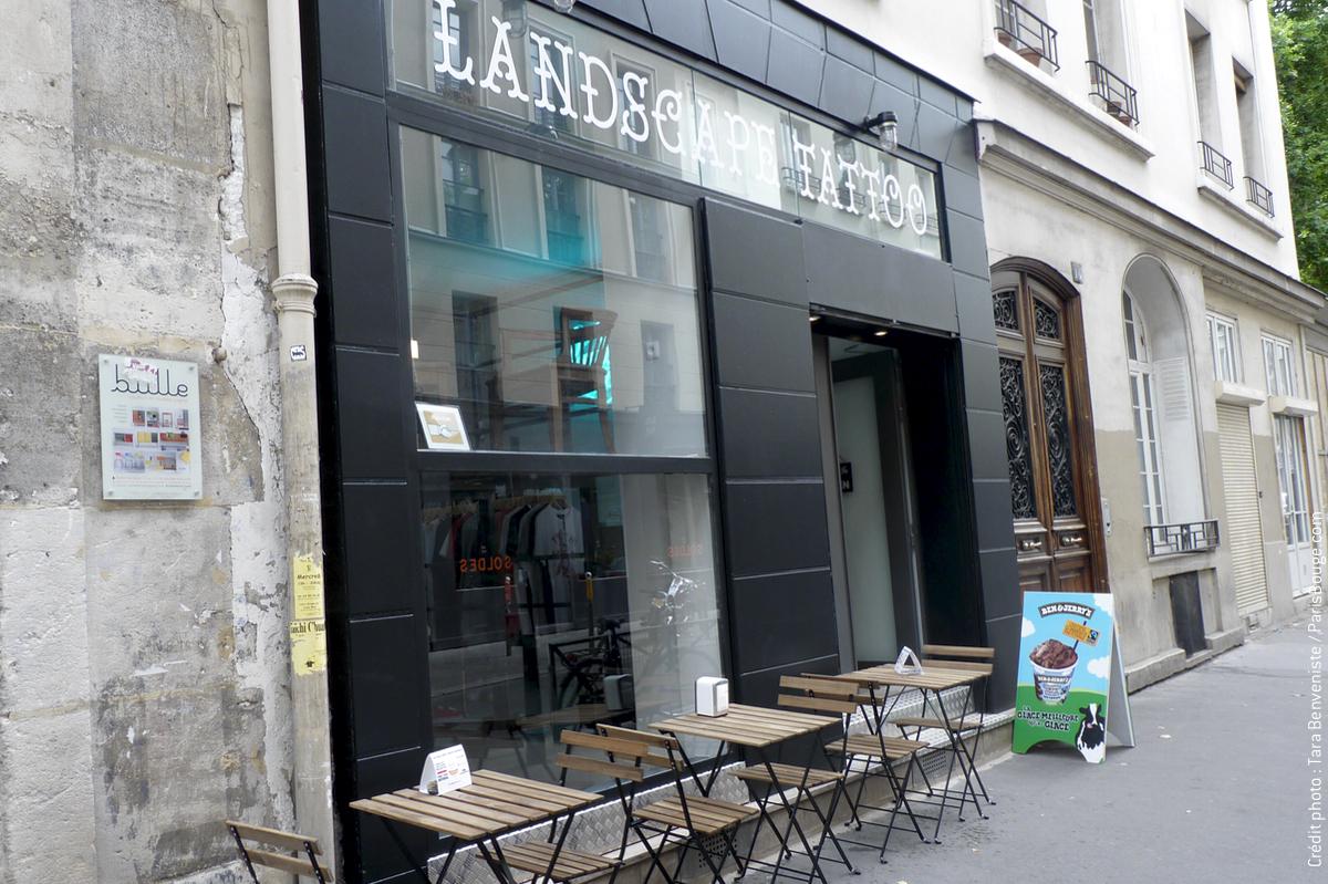 Landscape tattoo tatouages et hot dogs rue keller for Salon tattoo paris