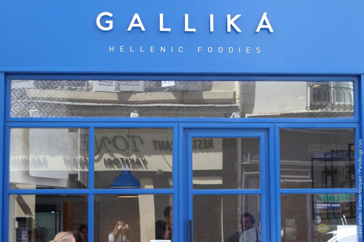 Menu Restaurant Gallika A Paris