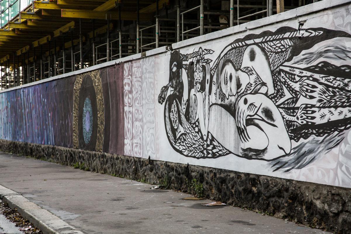 street art rosa parks fait le mur dans le 19 me. Black Bedroom Furniture Sets. Home Design Ideas